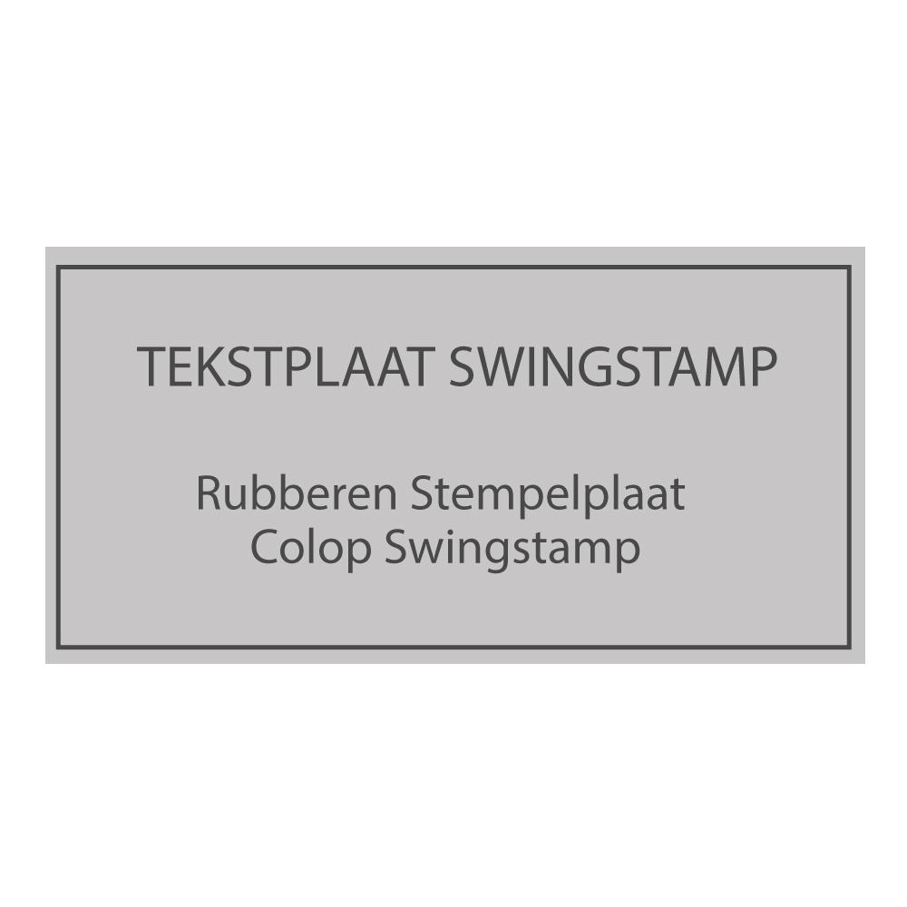 Swing stempels tekstplaten