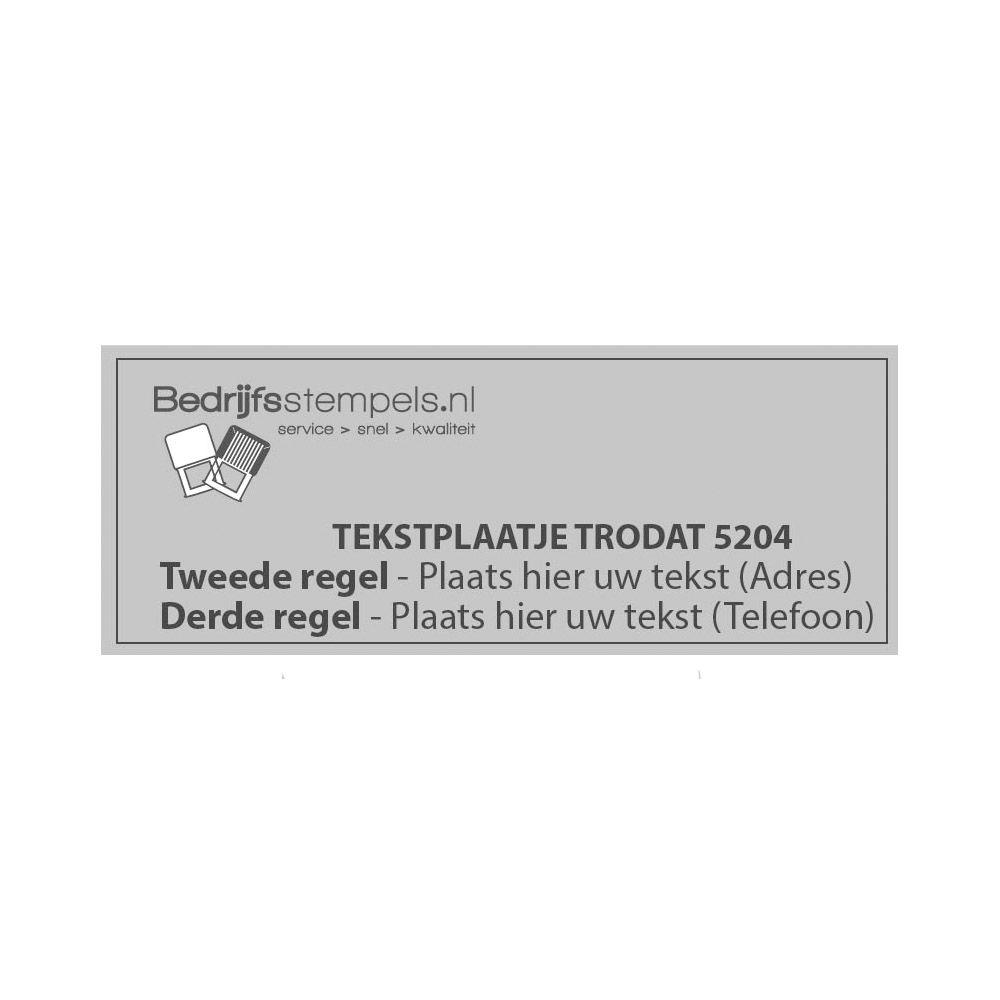 Losse stempelplaatjes / tekstplaatjes